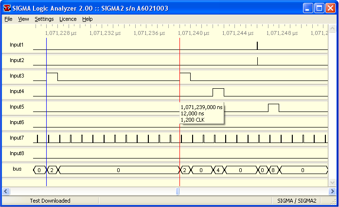 SIGMALOGAN Software Example View